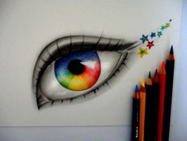 Eye of a Rainbow by 8Bpencil