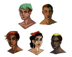 Busts by lesliesketch