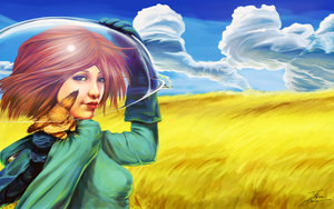 Nausicaa Valley of the Wind by fadingz