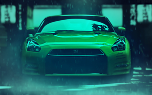 NISSAN GTR Rainy by MONK3y by MONK3yStyle