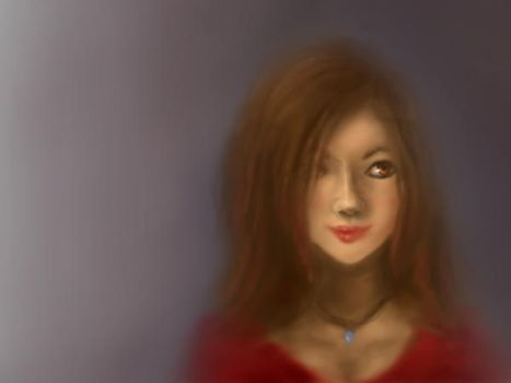 Faint Smile (Ayelet) by lostmuseford