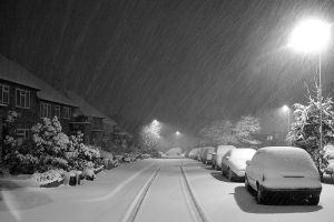Snowing in UK by Adelina2