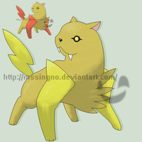 Fossil Fakemon Saibolt by mssingno