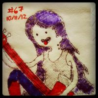 Napkin Art #67 - Marceline - Adventure Time by PeterParkerPA