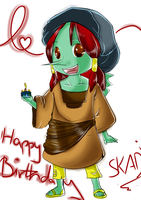 happy late birthday Skadiii by Mistress-Of-Eternity