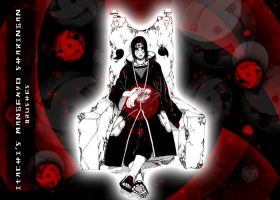 Itachi's Mangekyo Brushes by Hallucination-Walker