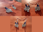 Little Owl Earrings by Saphire-Kat