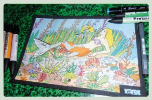 A mermaid drawed this summer by Cey-J