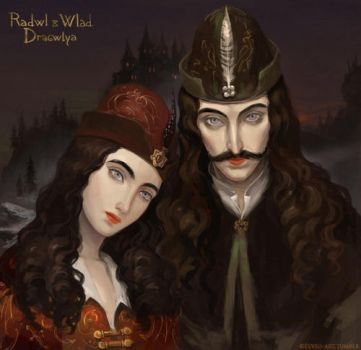 Vlad and Radu Dracula the Romanian brothers by Elveo