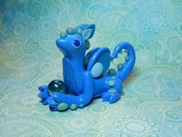 Blue Glitter Dragon by Snowifer