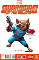 Rocket Racoon by Bob McCleod by bennyfuentes