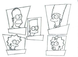 simpsons sketch001 by BDTXIII