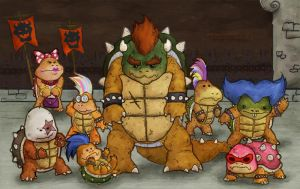 Family Koopa by LukeDenby