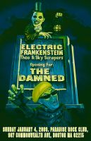 The Damned Gig Poster by firehazzard-designs