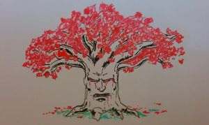 Whiteboard Weirwood by broneal