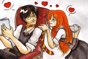 HP - Tied Love coloured by Kit-Kat-Choco