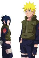 Naruto and Sasuke by kraddy07