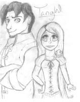 Tangled Sketch by wolfycatlover38
