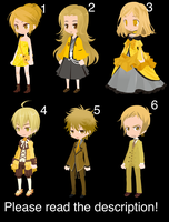 Free Yellow Human Adoptables #3 by Katte126