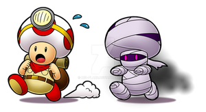 Captain Toad Mummy Chase by Red-Flare