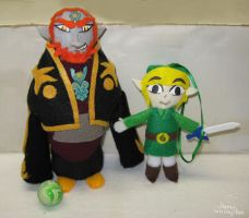 Toon Link and Ganon Ornaments by MeMiMouse
