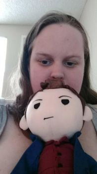 Selfie with Plushie Dean by Tokiogirl21
