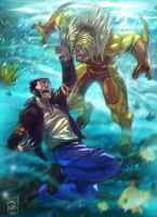 wolverine vs sabretooth by artnerdx