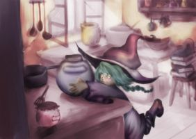 Little Witch by squeeglylines