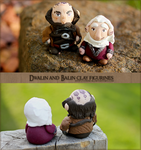 Dwalin and Balin Clay Figurines by Comsical