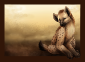 Hyena for Drawing Day by ClemiKinkajou