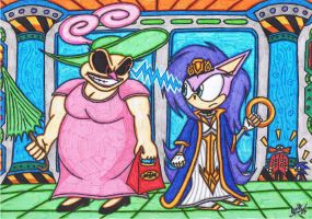 Mother Doom's Day - Momma Robotnik VS Queen Aleena by AceOfSpeed94