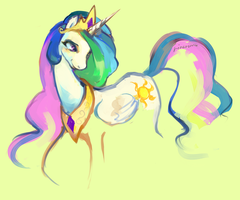 Princess Celestia sketch by rinaromu