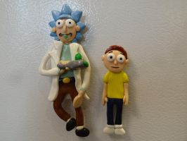 Rick and Morty Magnets by jewelsleydog13
