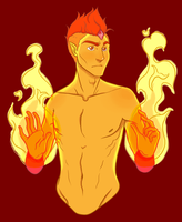 Flame Prince by blueToaster