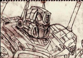 Optimus Prime SKETCHY by freaky06