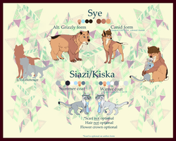 Siazi + Sye Duel feral reference sheet by furbabe