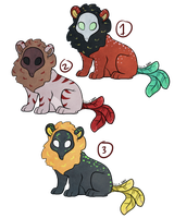 Masked Griffin Adoptables - OPEN by naida4