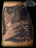 Stevie Ray Vaughan by state-of-art-tattoo