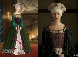 Anne of Cleves' Portrait Gown by LadyAquanine73551