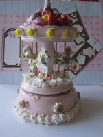 Pink Carousel Music Box by AngelicLight100