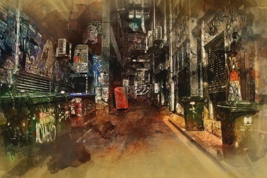 Melbourne Alley by ChiaraLily9