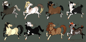 Horse Adoptables CLOSED by Roneri
