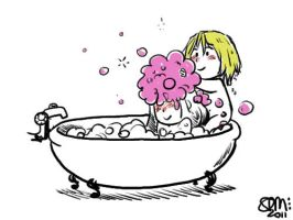 Faberry Chibi Bath Time by patronustrip