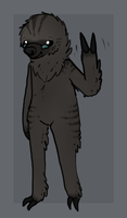 Markus the Sloth by TheseWeirdFishes