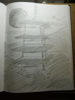 Quick sketch of a Pagoda by DiegoTomasu