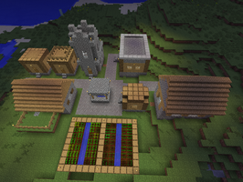 minecraft NPC village buildings by ColtCoyote