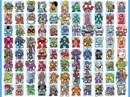 Every Mega Man boss... ever by jjmccullough