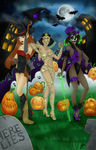 Halloween Contest Entry - A Midnight Stroll by Kitty-Vamp