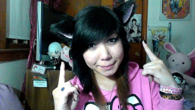 Kitty ears :D by KawaiiPanda101