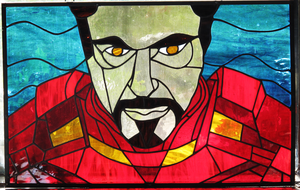 Stained Glass Iron Man complete by tripperfunster